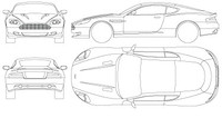 Aston Martin DB9 Vector blueprint