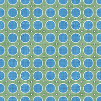 Coordinated Cottons - Blue on Green Modern Dots