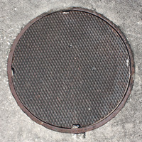 Man Hole Cover Plain