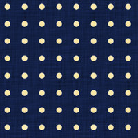 Coordinated Cottons - Yellow on Navy Polka-Dots