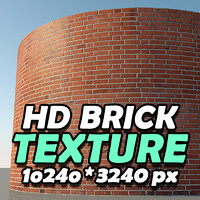 HD Red Brick Texture