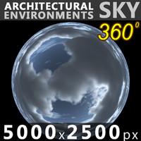Sky 360 Clouded 011 5000x2500