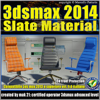 3ds max 2014 Slate Material v.9.0 Italiano cd front