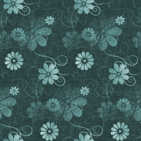 Fun with Florals - Teal Floral 4