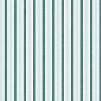 Fun with Florals - Teal Stripe