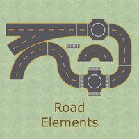 Road Elements Texture Map