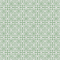 Coordinated Cottons - Green on White Damask (2)