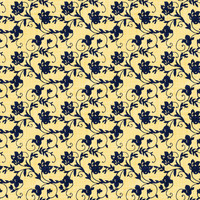 Coordinated Cottons Navy on Yellow Floral