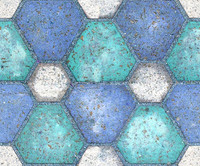 Blue and White Block Tiles Texture  2