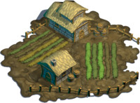 Farm building - medieval cartoonish style