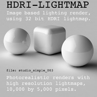 HDRI studio simple 003