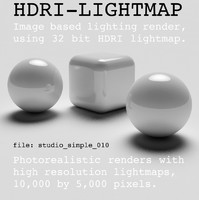 HDRI studio simple 010