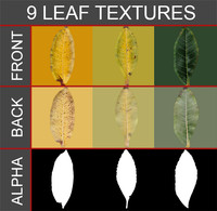 9 leaf textures