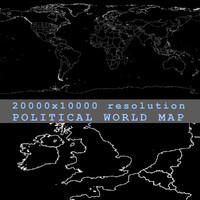 World Political Map 20000x10000