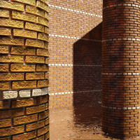 High Resolution Tileable Stripes Brick (2)