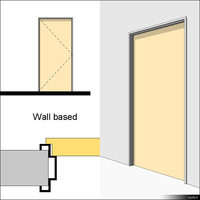 Door Swing Single Metal Block 01481se