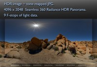 ROCKS AT JOSHUA TREE 360 HDR PANORAMA #  075