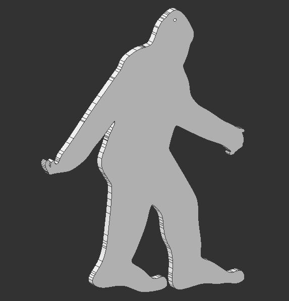 bigfoot outline - photo #4