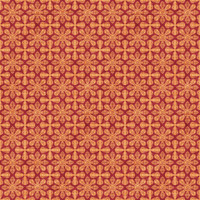 Coordinated Cottons - Apricot on Red Damask