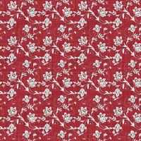 Coordinated Cottons - White on Red Floral