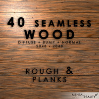 40 High Resolution Seamless Wood Textures - Rough & Planks