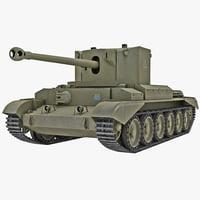 cruiser tank mk viii 3d 3ds