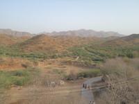 mountain down view