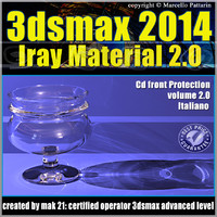 3ds max 2014 Iray Material vol 2 Italiano cd front