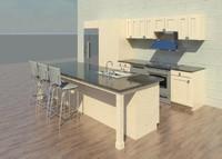 Complete kitchen w parametric dimension