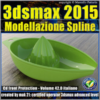 3ds max 2015 Modellazione Spline v.42 Italiano cd front