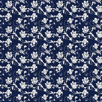 Coordinated Cottons - White on Navy Floral