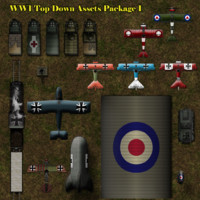 WW1 Top-Down Assets Set 1