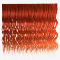 Ginger wavy hair texture
