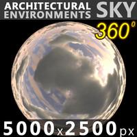 Sky 360 Clouded 007 5000x2500