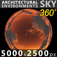 Sky 360 Sunset 013 5000x2500