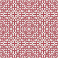 Coordinated Cottons - Red on White Damask