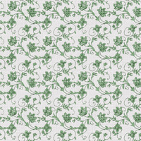 Coordinated Cottons - Green on White Floral