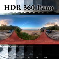 HDR 360 pano Rio beach Prainha