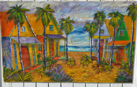 Beach Village Painting