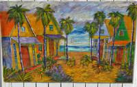 Beach Village Painting