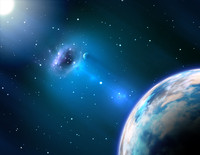 Black hole near the Earth