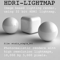 HDRI studio simple 001