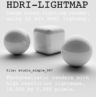 HDRI studio simple 007
