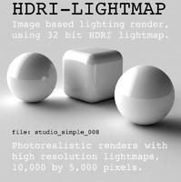 HDRI studio simple 008