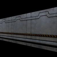 Scifi Corridor Wall