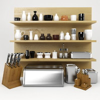 3d model kitchen stuff set