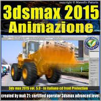 3ds max 2015 Animazione. volume 5.0 Italiano_cd front