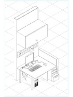 ISOMETRIC COMPUTER DESK