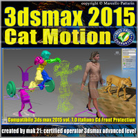 3ds max 2015 Cat Motion. volume 7.0 Italiano_cd front