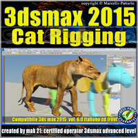 3ds max 2015 Cat Rigging volume 6.0 Italiano_cd front